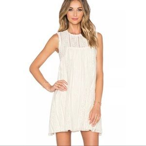 FREE PEOPLE Crochet Lace Sleeveless Mini Dress